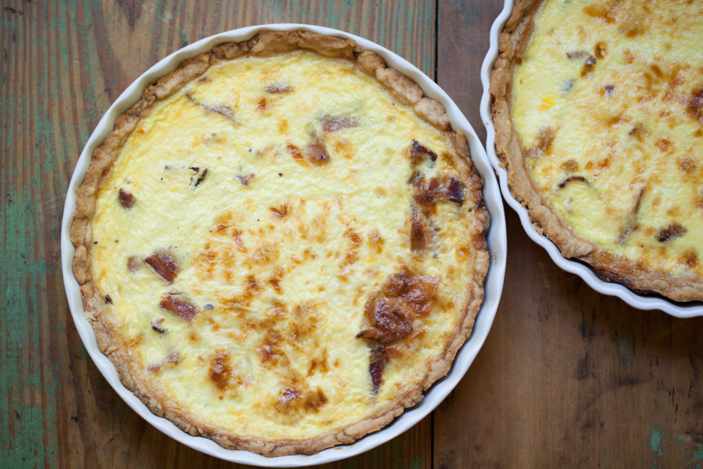 quiche with gruyere and bacon. Black Bedroom Furniture Sets. Home Design Ideas